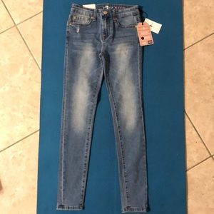 NWT 7 For All Mankind girls The Skinny denim jeans